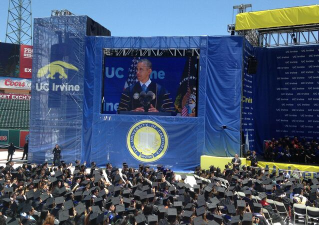 President Obama at UC Irvine Commencement 2014