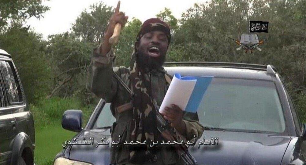 Abubakar Shekau the leader of Boko Haram in Nigeria pledges allegiance to ISIS