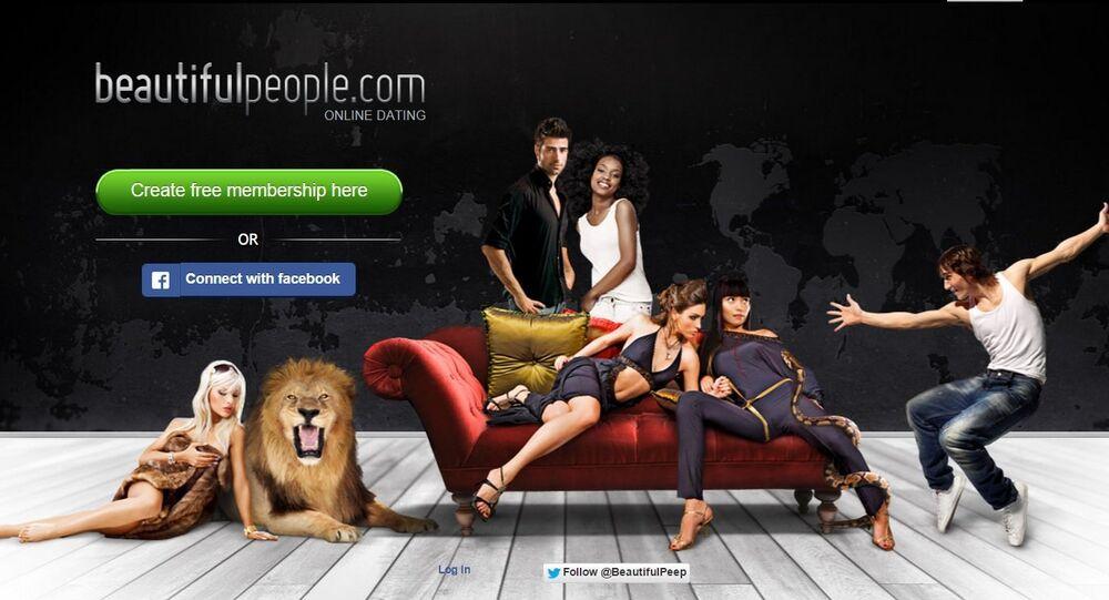 Screenshot of beautifulpeople.com's welcome page