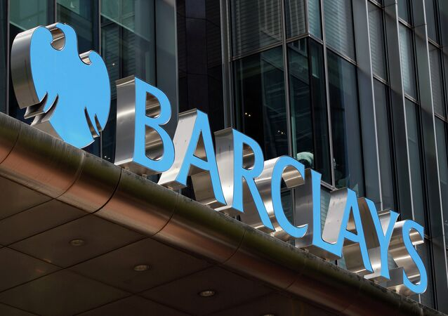 A view of Barclay's headquarter at London's Canary Wharf financial district