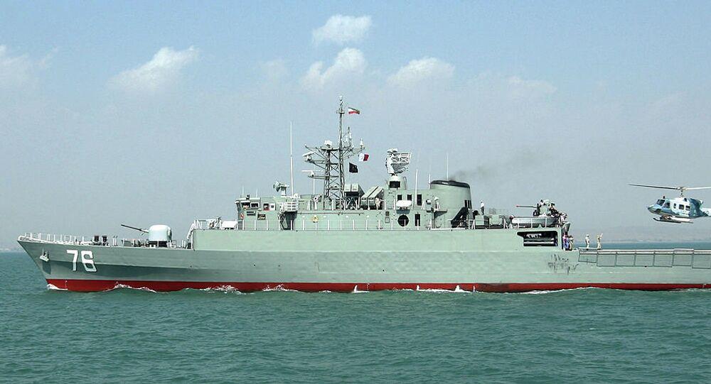 Jamaran frigate of Iranian navy