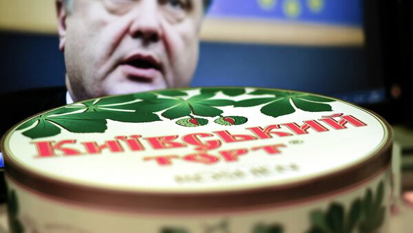 A Ukrainian blogger looking into publically disclosed financial documents about President Petro Poroshenko's Roshen candy factory in the city of Lipetsk Russia has calculated that the president's company paid nearly 100 million rubles (the equivalent to about $1.75 million US today ) in taxes into the Russian budget in 2014. - Sputnik International