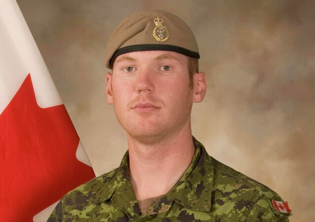 Sergeant Andrew Joseph Doiron, member of the Canadian Special Operations Regiment based at Garrison Petawawa, Ontario, Canada, is pictured in this undated handout photo provided by Department of National Defence, DND.