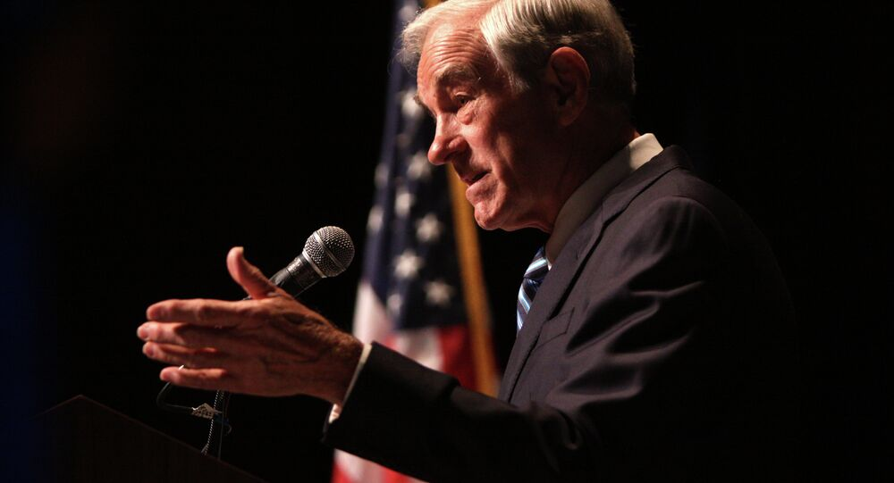 Ron Paul speaking in Reno in 2011.