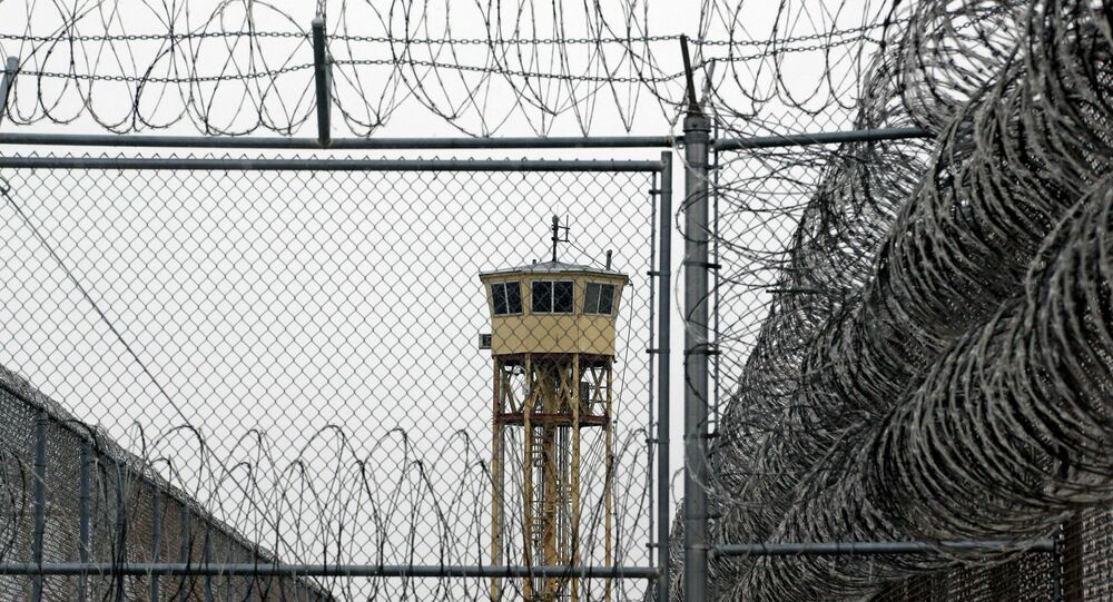 A watch tower is seen at the Wasatch facility during a media tour Thursday, Feb. 26, 2015, at the Utah State Correctional Facility in Draper, Utah. Gov. Gary Herbert said Thursday that he's opposed to the idea of allowing a state commission to pick a location to build a new prison instead of leaving the decision with the Legislature.