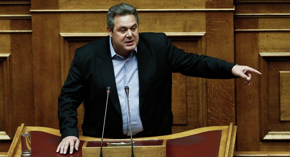 Greece Defense Minister Panos Kammenos
