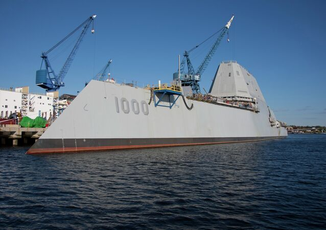 The USS Zumwalt, a guided missile destroyer of the United States Navyr