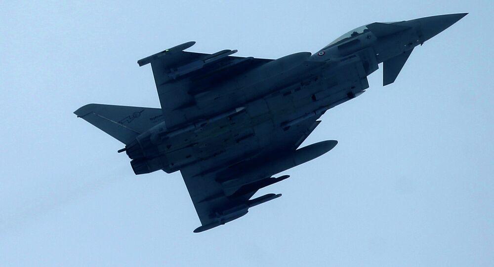 Italy's Eurofighter Typhoon jet fighter