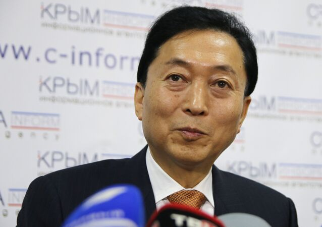 Former Japanese Prime Minister Yukio Hatoyama, in Crimea this week as part of a good will visit, says that discussions with local residents have convinced him that the peninsula's referendum to rejoin Russia was a real expression of the will of its people.