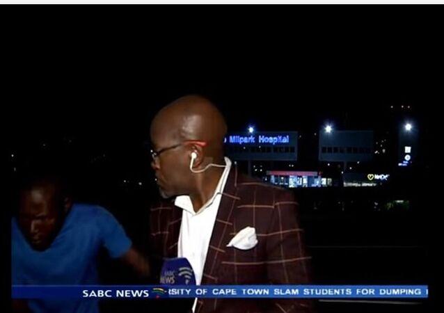 Reporter Vuyo Myoko Mugged on Live TV