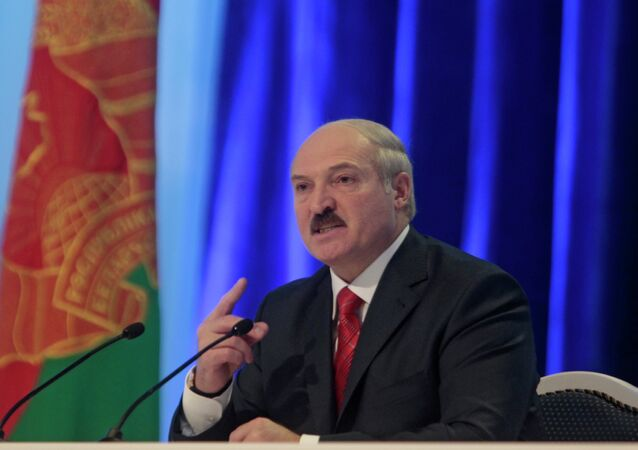 Incumbent Belarusian President Alexander Lukashenko speaks during a news conference after preliminary election results show him overwhelmingly winning a fourth term in Minsk, Berlarus, Monday, Dec. 20, 2010