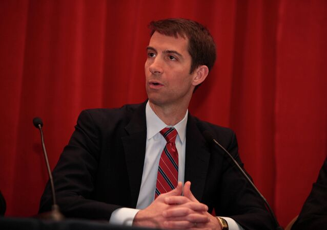 Senator Tom Cotton, very alarmed by the world.