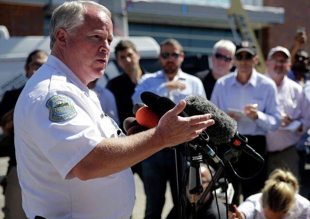 Ferguson Police Chief Thomas Jackson speaks in Ferguson. File photo