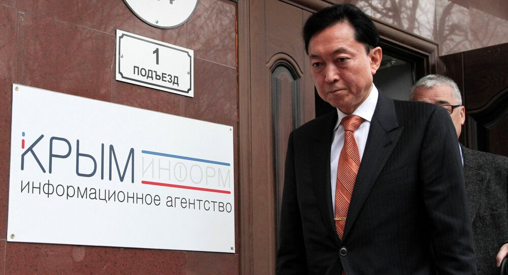 Yukio Hatoyama, a former Japanese Prime Minister, has said that he won't rule out moving to Crimea if Japanese authorities took away his passport.