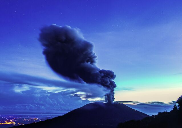 The Turrialba volcano, located in the Costa Rican province of Cartago, about 35km southwest of San Jose, spews ash on November 1, 2014