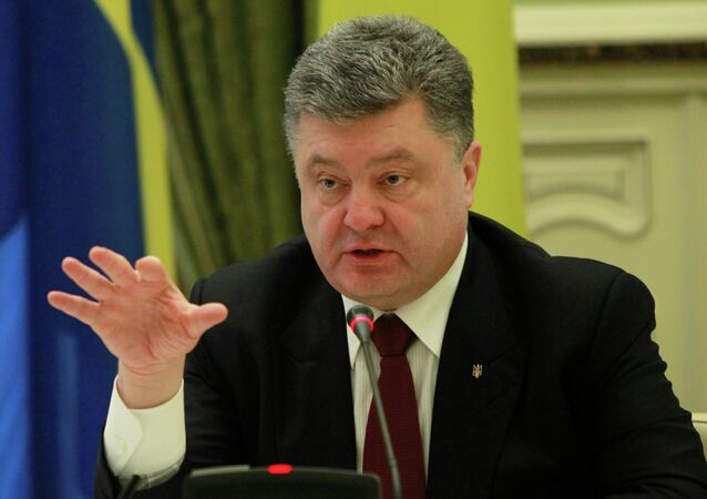 The head of eastern Ukraine's breakaway republics asks why Ukraine's president is talking about the delivery of weapons from a dozen countries in Europe while publically proclaiming his commitment to peace.