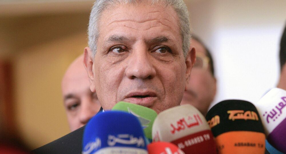 Egyptian Prime Minister Ibrahim Mahlab answers journalists' questions. File photo