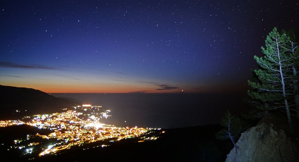 View of Yalta city from the Ai-Petri mountain.