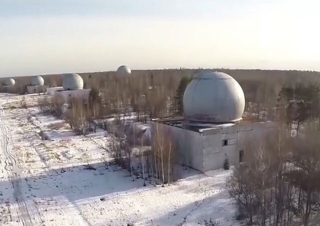 Drone footage of disused Moscow missile-defense facility