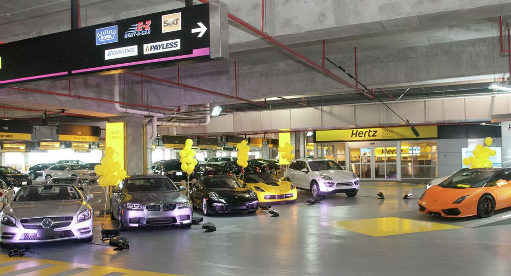 The tiny camera has a full view of a car's interior, and it is installed in one out of every eight Hertz rental cars.