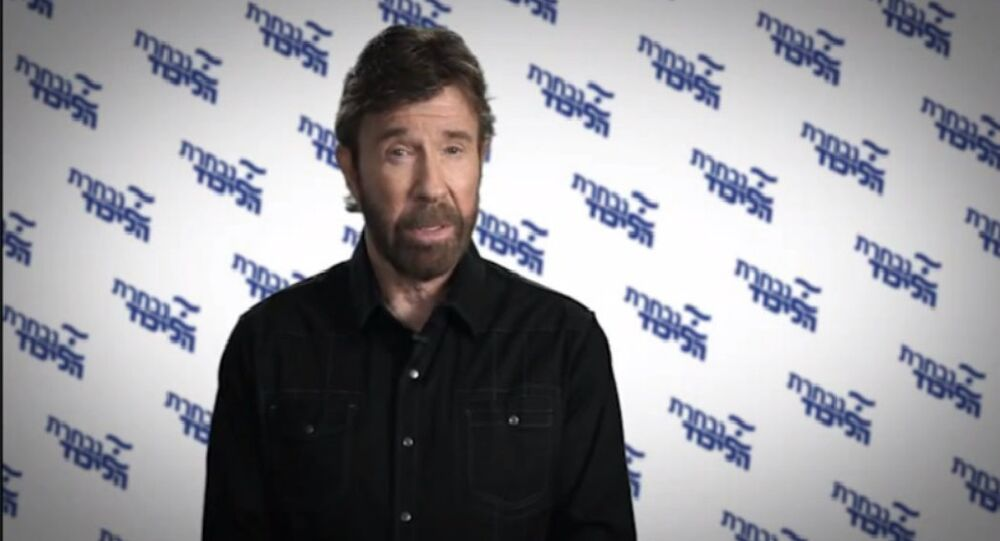 Chuck Norris addresses the Israeli people on Bibi's behalf