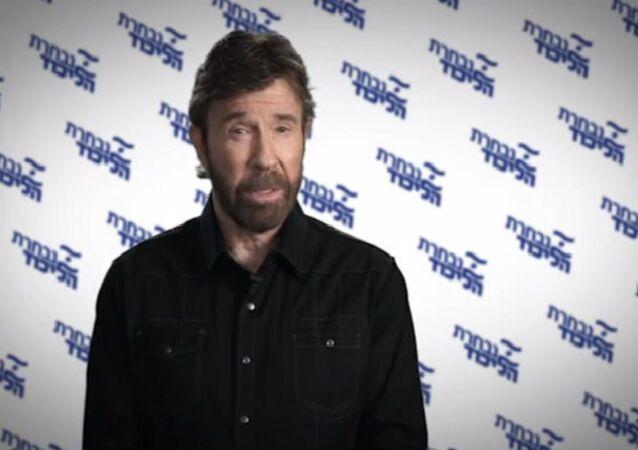 Chuck Norris addresses the Israeli people on Bibi's behalf
