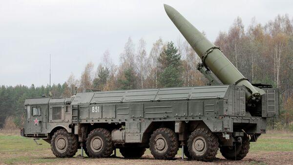 Exercises for installing Iskander missile system - Sputnik International