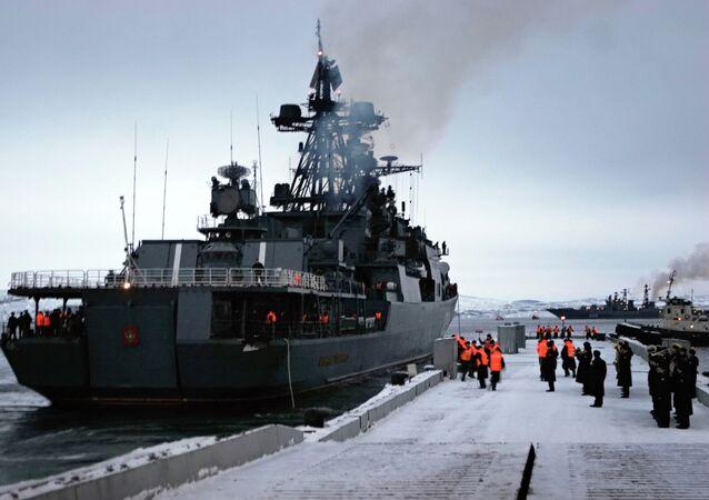 The Admiral Levchenko anti-submarine warfare ship. (File)
