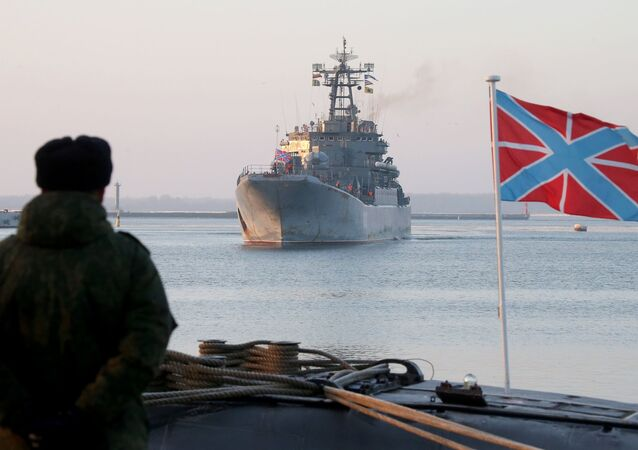 The Kaliningrad large landing ship is back to Baltiysk naval harbor