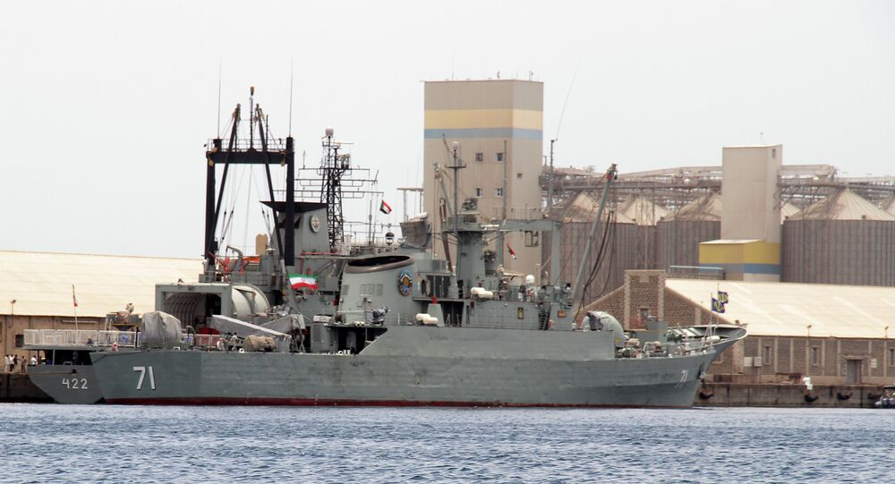 Iranian military ships frigate