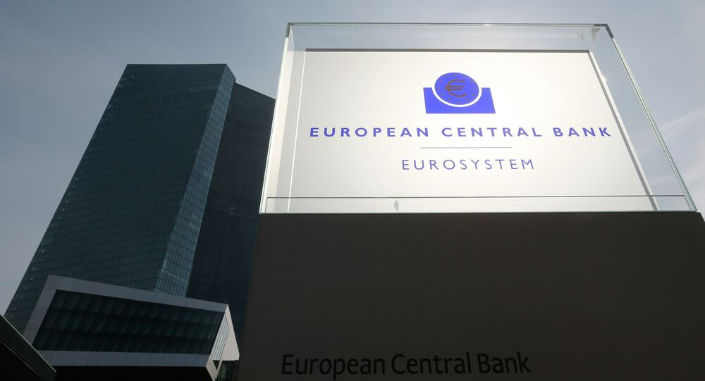 General view of the exterior of the European Central Bank (ECB) building on the inaugural of it's new headquarters in Frankfurt March 18, 2015. The ceremonial opening of the 1.3-billion-euro ($1.4-billion) 185-meter high skyscraper building took place on Wednesday.