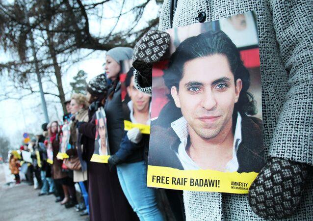 Demonstration outside the Embassy of Saudi-Arabia, Helsinki, Finland. (File)