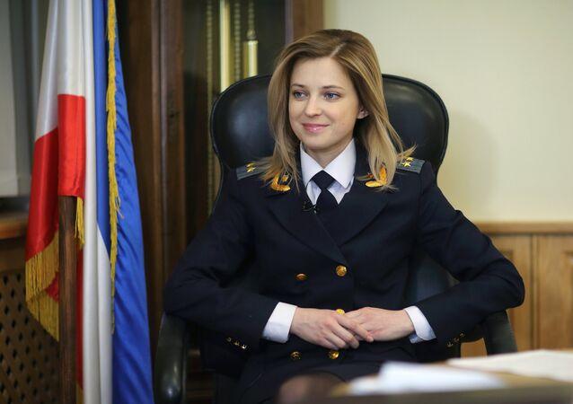 Crimea Prosecutor Natalia Poklonskaya in her office in Simferopol