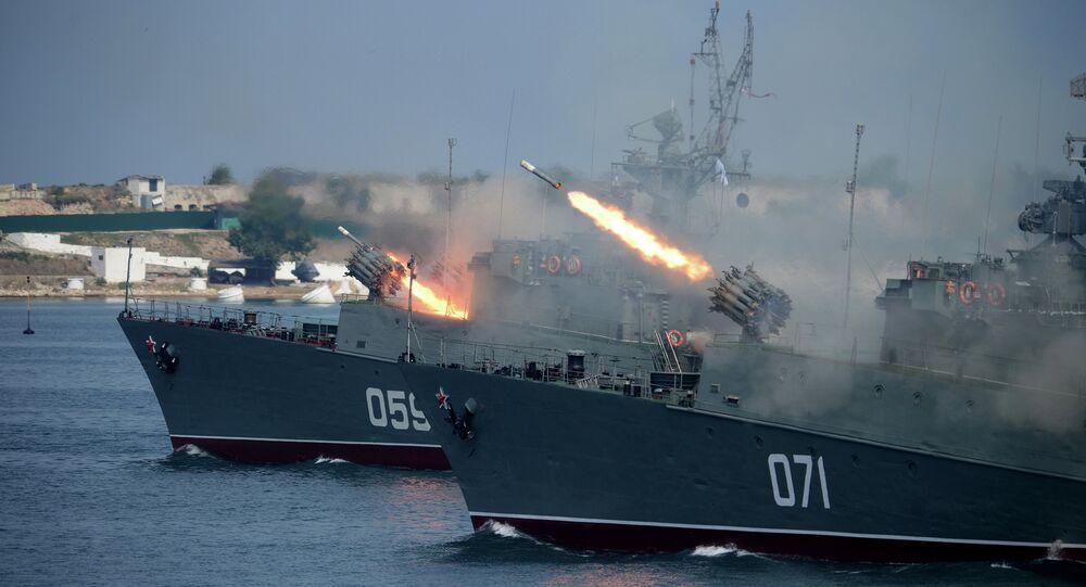 Small ASW ship MPK-49, the Aleksandrovets, and small ASW ship MPK-118, the Suzdalets