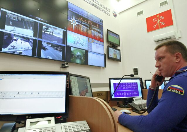 Russia's first Comprehensive Security System Center set up by the Civil Defense Ministry, Interior Ministry and the Federal Security Service opened in St Petersburg
