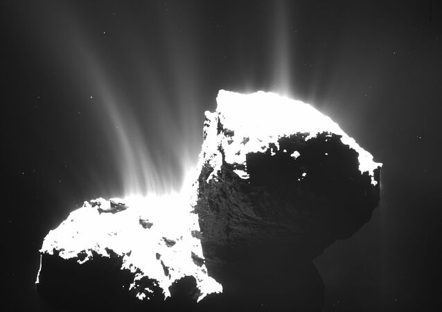 The photo recently released by ESA and taken by OSIRIS wide-angle camera on the Rosetta space probe on Nov. 22, 2014