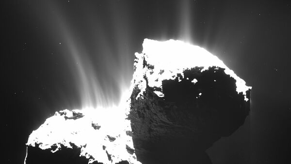 The photo recently released by ESA and taken by OSIRIS wide-angle camera on the Rosetta space probe on Nov. 22, 2014 - Sputnik International