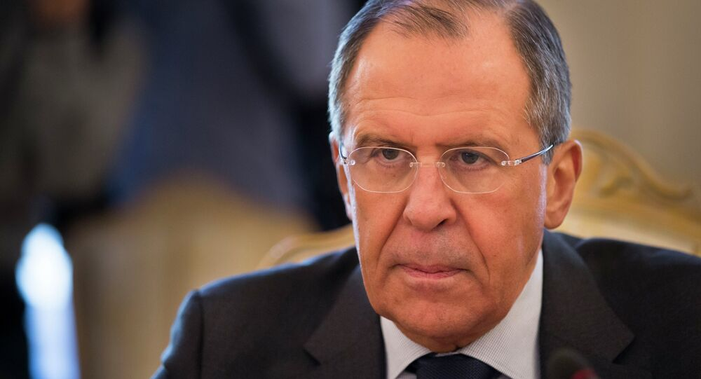 Russian Foreign Minister Sergey Lavrov meets with counterpart from Georgia's breakaway region of Abkhazia Vyacheslav Chirikba in Moscow, Russia, Wednesday, March 11, 2015