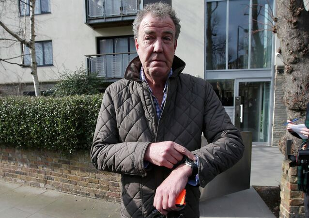 Television presenter Jeremy Clarkson leaves an address in London, March 11, 2015