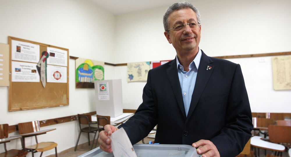Palestinian Legislative Council member Mustafa Al Barghouti casts his vote in the West Bank city of Ramallah. File photo