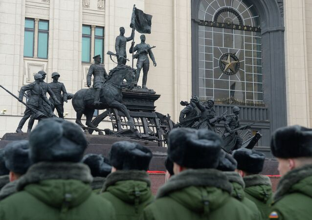 Unveiling sculpture dedicated to Victory in Great Patriotic War
