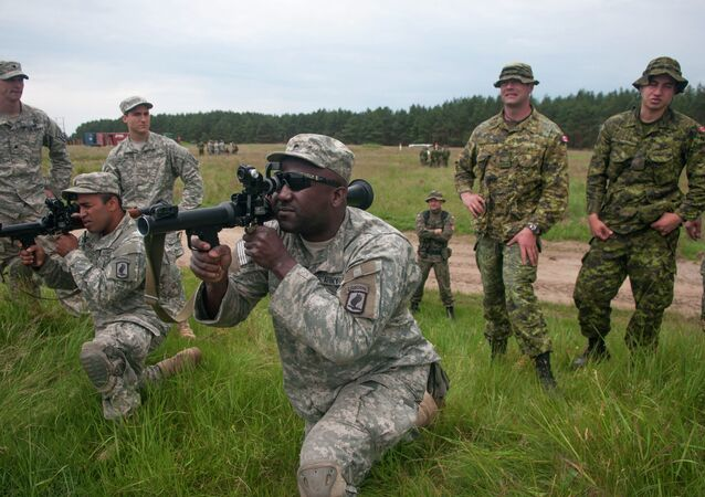 Allied paratroopers hold rocket training in Poland