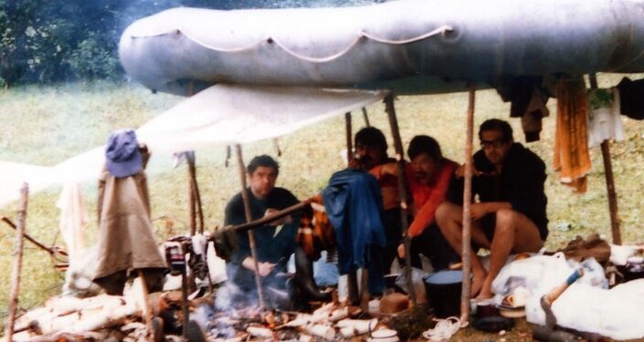 Sergei Lavrov on a picnic. (Photo from the author's archive) (Cropped image.)