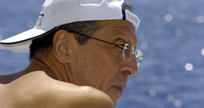 Sergei Lavrov, Russia's Foreign Minister, on the seaside
