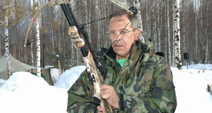 Russian Foreign Minister Sergei Lavrov hunting in Khanty-Mansiisk.