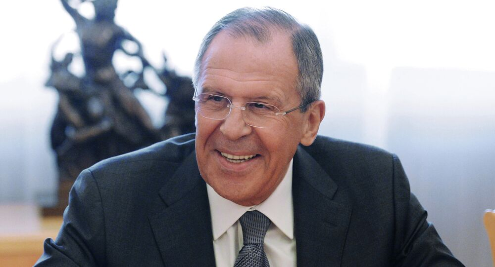 Russian Foreign Minister Sergey Lavrov meets with