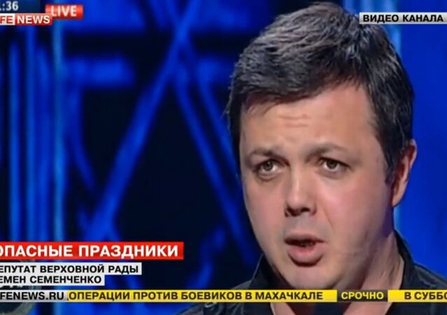 Semyen Semenchenko on Channel 112 Ukraina's Shuster Live program