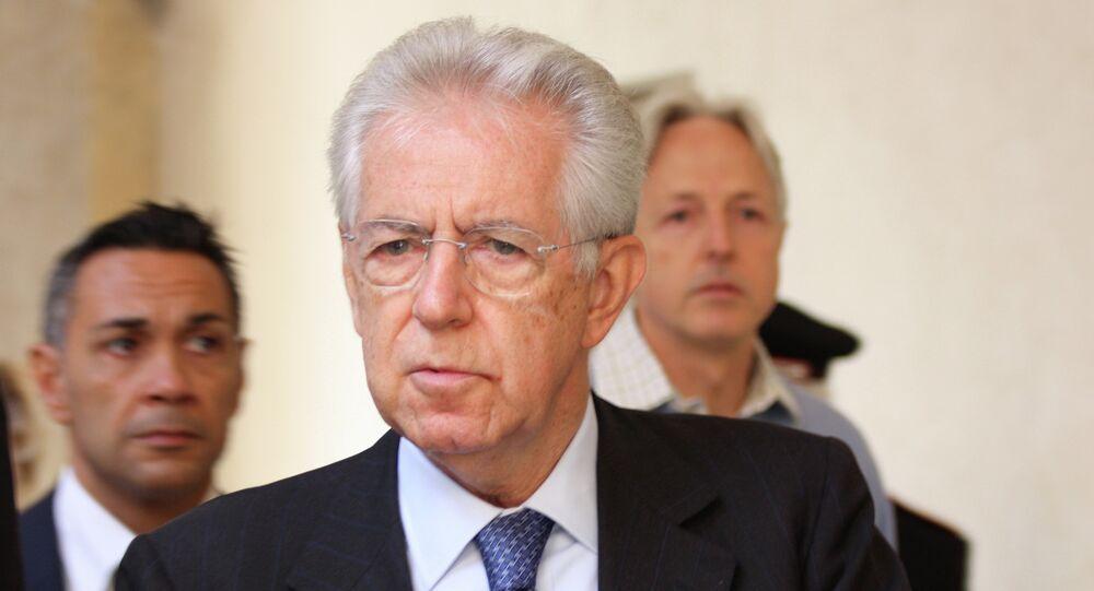 Italy's ex-Prime Minister Mario Monti