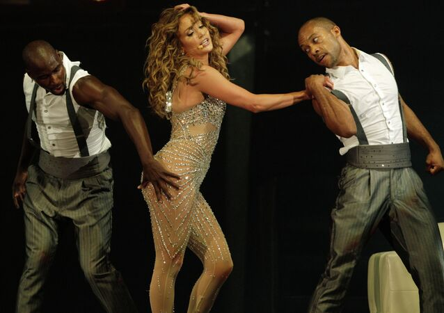 Singer Jennifer Lopez performs in her Dance Again world tour that kicked off in Panama City