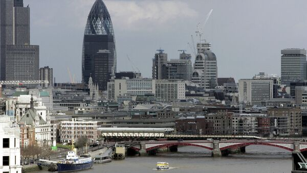 View from Nelson's Column shows the Gherkin building over central London's skyline - Sputnik International